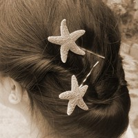 Mermaid Hair - Cute Starfish Bobby Pins by dreamsbythesea