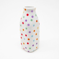 Poketo Polka Dot Milk Bottle