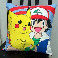 Pikachu and Ash Pillow Case Pokemon Gamer