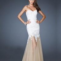 WowDresses — Fantastic Lace Mermaid/Trumpet Sweetheart Floor Length Prom Dress