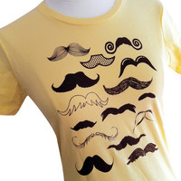 Moustache Ladies T-Shirt - Yellow  Moustache Collection Ladies T-shirt  (Sizes S, M, L, XL)