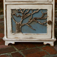 Wood Table Nightstand Oak Tree Lighthouse