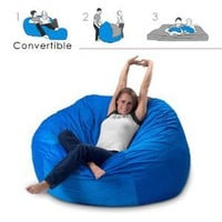 Amazon.com: Corda Roy&#x27;s Queen Size Convertible Foam Bean Bag Bed in Corduroy Color-Material - Other Fabrics: Home &amp; Kitchen