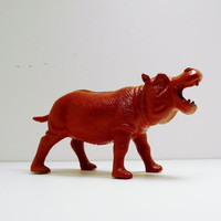 upcycled toy hippo // kitsch figurine  by nashpop