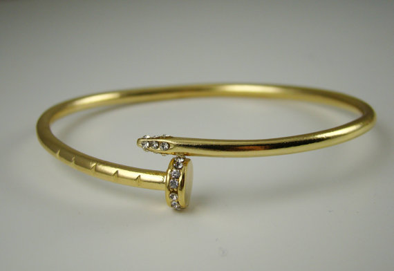 Cartier Inspired Twisted Nail Bracelet from ...