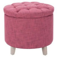 One Kings Lane - Safavieh - Arabella Storage Ottoman, Rose