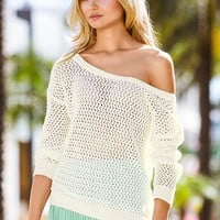 Draped Open-back Sweater