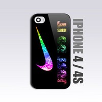 Nike Just Do It - For iPhone 4 or 4S Black Case / Cover