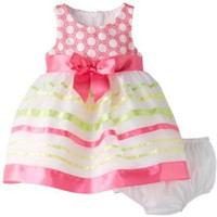 Amazon.com: Bonnie Baby Baby-Girls Infant Pastel Ribbon Stripe Dress: Clothing