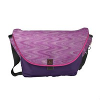 Pink Raspberry Zigzag Courier Bags from Zazzle.com