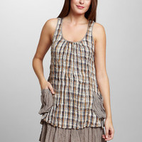 ideeli | AREVE Plaid Ruffle Dress