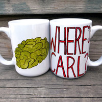 Where is Carl The Walking Dead Red or Green Double Sided Coffee Mug