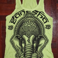 Women's Tank top Ganesha Yoga Clothing Buddha Hamsa T-shirt Boho Om