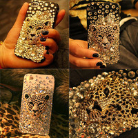 Ambition Leopard Handmade Hard Case For Iphone 4/4s/5