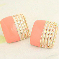 Nice Sweet Fashion Square Earrings