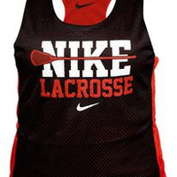 Nike Reversible Women's Lacrosse Tank - Black/Red