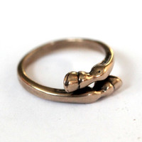 Horse Hoof Ring in Solid Bronze