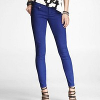STELLA COLORED JEAN LEGGING-COBALT BLUE at Express