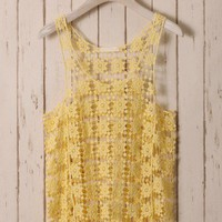 Yellow Daisy Crochet Top
