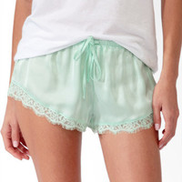 Eyelash Lace Trim PJ Shorts | FOREVER 21 - 2027705851