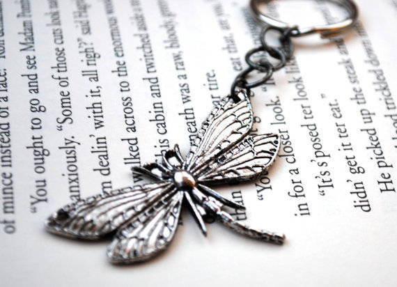 Dragonfly Keychain by KellyStahley on Etsy