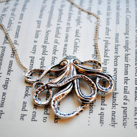 Octopus Necklace by KellyStahley on Etsy