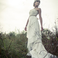 Yarrow Eco Wedding Gown- Cotton Ruffles and Organic Lace