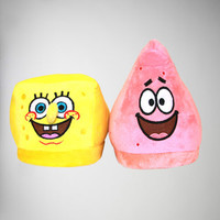 SpongeBob and Patrick Mix & Match Adult Slippers