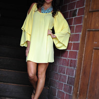 Can&#x27;t Hold Me Back Dress: Yellow | Hope&#x27;s