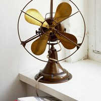 Brass wind fan