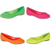 Trendy Neon Flats - 4 Beautiful Spring Colors!