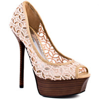 Bebe Shoes&#x27;s 0 Chantal - Natural Fabric for 109.99 direct from heels.com