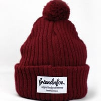 FriendnFoe Clothing Co.  — Deep Red Bobble