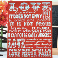 Luck O the Irish Sale LOVE IS patient, Love is Kind... , Fun, Expressive Word Canvas wall decor, for Home, Office, Dorm, Bedroom, Kids Room