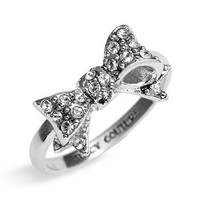 Juicy Couture &#x27;Bows for a Starlet&#x27; Pav Bow Ring | Nordstrom