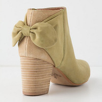 Shimmered Bow-Back Booties