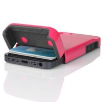 INCIPIO STASHBACK Hybrid Case w/ Credit Card Slot IPH-848 (Pink/Gray) for Apple iPhone 5