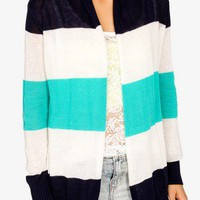 Open Knit Colorblocked Cardigan | FOREVER 21 - 2020464372