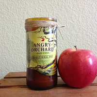 Angry Orchard Recycled Beer Bottle Natural Soy Candle