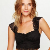 Free People Scallop Edge Lace Crop at Free People Clothing Boutique