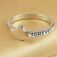 BlueBand  Elegant Cross Forever Ring