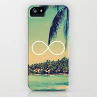 Forever Summer Vintage Beach Infinity iPhone Case by RexLambo | Society6