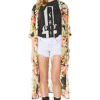 See You Monday  The Floral Kimono Top In Multi : Karmaloop.com - Global Concrete Culture