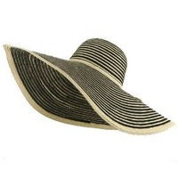 Large Straw Stripe JLO Sun Hat