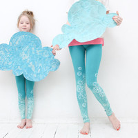 Mint skies-  leggings for children