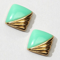 Art Deco Trudy Earrings | Vintage Square Earrings | fredflare.com