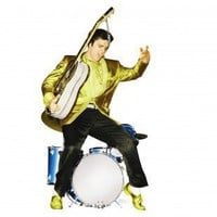 Advanced Graphics Elvis Presley in Drums Life-Size Cardboard Stand-Up - 499T