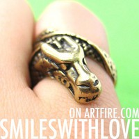 Animal Dragon Wrap Around Ring in Bronze - Sizes 6 and 8 ONLY