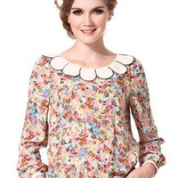 Floral Long Sleeved Shirt S010081