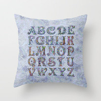 The Alphabet Throw Pillow by gretzky | Society6